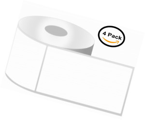 Zebra Lp2844 Labels works With Zebra Desktop Printers 4 Rolls 1000 Labels