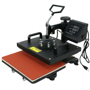 Used 6 In 1 Heat Press T shirt Hat Cap Mug Digital Transfer Sublimation Machine