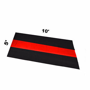The Thin Red Line Car Garage Mat 5 X 10 Fire Rescue Fighter First Responder