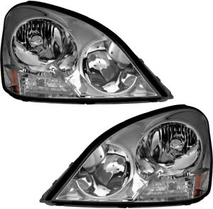 Hid Xenon Headlights Headlamps New Pair Set For 2001 2002 2003 Lexus Ls430