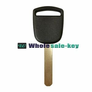 New Uncut Blade Transponder Key Id 13 Chip Ignition For Honda Ho01