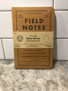 Field Notes Dime Novel Special Edition Blank Memo Books 2 pack New