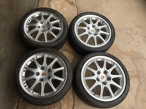 Porsche Genuine Bbs Set 4 Of Wheels 18 Inch Staggered Rims And Tires
