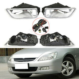 1 Pair Front Bumper Car Driving Fog Lights Wiring Switch For Honda Accord 03 07