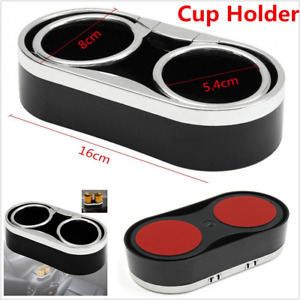 Universal 1p Car Interior Console Dual Cup Holder Drink Bottle Mount W top Rings