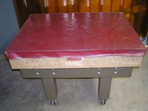 Starrett Surface Plate 36 X 48 X 8 Crystal Pink With Stand Cover Grade A