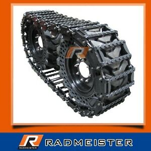 Over The Tire Skid Steer Steel Tracks 12 For Bobcat 853 863 873