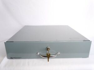 Indiana Cash Register Drawer Co 5 Bill 5 Coin Gray Under Counter Mount W Keys