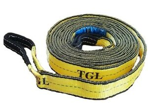 2 X 20ft 2ply Tow Strap W Loop Ends 23 000 Lb Capacity Recovery Rescue Offroad