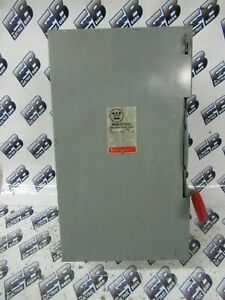 Westinghouse Gun322 60 Amp 240 Volt 3 Pole Disconnect
