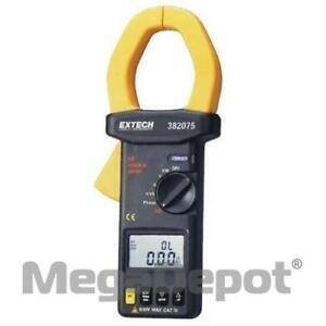 Extech 382075 True Rms Ac dc 3 phase Clamp on Power Analyzer