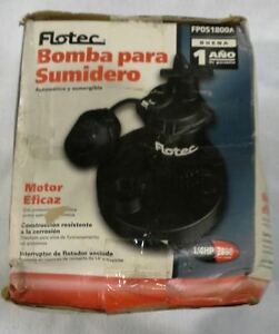 Flotec 1 3 Hp 2 500 Gph Automatic Submersible Sump Pump Fp0s2400a 03