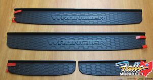 2018 2021 Jeep Wrangler Jl Black Plastic Front Rear Door Sill Guards Oem