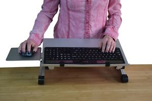 Workez Keyboard Tray Adjustable Height Angle Negative Tilt Sit Stand Up Riser