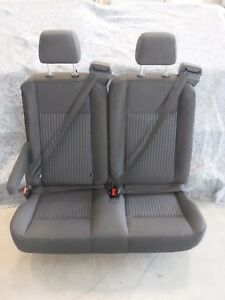 Ford Transit Oem Seat Charcoal black Cloth 36 Dual Pass w Hardware