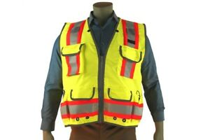 Indian River High Visibility Green Heavy Duty Surveyors Vest Two toned Class 2