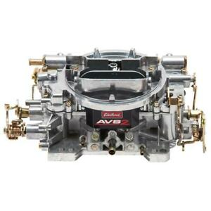 Edelbrock Carburetor 1905 Avs2 650 Cfm 4 Barrel Manual Choke Vacuum Satin