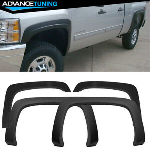 Fits 07 13 Chevy Silverado Oe Factory Style Fender Flares Long Bed 4p Pp