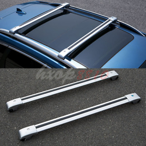 2pcs Alloy Roof Rack Cargo Carrier Cross Bar For Jeep Liberty 2004 2008 Silver
