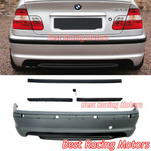 M tech Ii Style Rear Bumper Cover Fits 99 05 Bmw E46 3 series 4dr Sedan