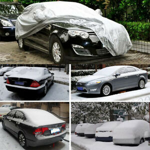 Size Universal Uv Outdoor Full Car Auto Cover Waterproof Silver