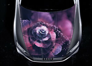 Flower Petals Sparkles Hood Color Vinyl Sticker Decal Wrap Fit Any Car