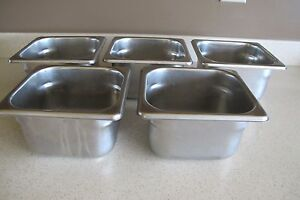 5 Polar Ware 18 8 Stainless Steel 1 3 4 Qt Sz 4 Deep Steam Table Food Pans Nsf