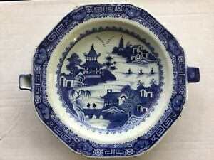 Antique Chinese Export Porcelain Warming Dish