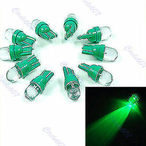 10pcs Green Gauge Led Light Bulb T10 194 168 Plate Dashboard Side New