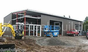 Durobeam Steel 40x60x15 Metal Clear Span Prefab Building Garage Factory Direct