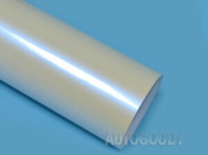 12 X 60 Gloss Pearl White To Blue Vinyl Film Wrap Air Bubble Free 1ft X 5ft