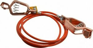 Hubbell Workplace 19 Awg 5 Ft Alligator Clip Grounding Cable With Clamps