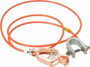 Hubbell Workplace 19 Awg 5 Ft Alligator Clip C clamp Grounding Cable Wit
