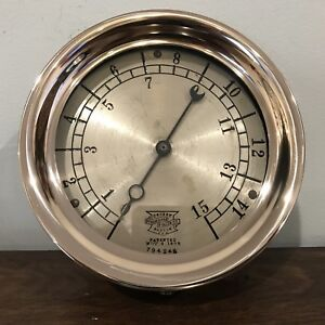 Antique Patented 1898 7 Crosby Steam Gauge Steampunk Industrial Solid