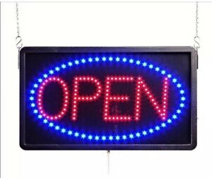Led Sign Open With Dust Cover 5 Flashing Patterns New In Box 13 X 21 5 Cb4
