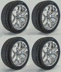 2018 Gmc Sierra Yukon Denali Snowflake Ck156 Chrome Sierra 22 Wheels Rims Tires