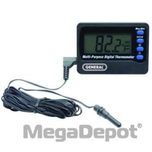 General Tools Aq150 Inside outside Thermometer With Waterproof Probe