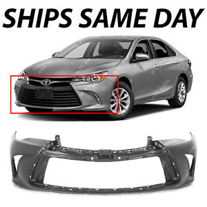 New Primered Front Bumper Cover Fascia For 2015 2016 2017 Toyota Camry 15 16 17