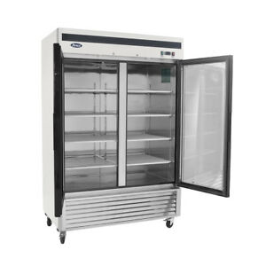 Atosa Mcf8703gr Bottom Mount 2 Two Glass Door Freezer Commercial Kitchen New