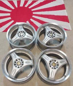 16 Staggered Rays Engineering Volk Wheels 16x7 16x8 5x100 Et34 Rare Jdm Wheel