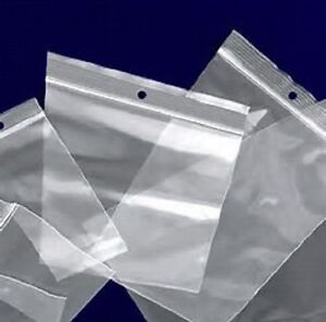 1000 2000 3000 2x3 To 12x15 Clear Hd Hang Hole Ziplock Reclosable Poly Bags 4mil