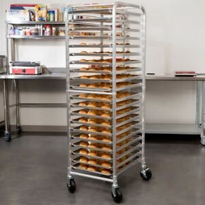 20 Pan Aluminum End Load Restaurant Bakery Bun Sheet Pan Rack Unassembled