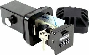 Hitchsafe 2 Trailer Hitch Receiver Combination Key Storage Safe With Long Bolts