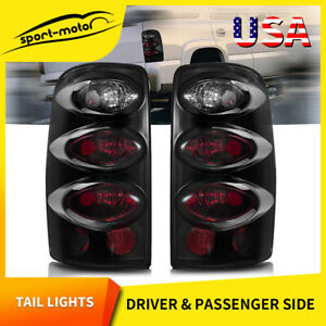 Tail Lights For 2000 2006 Chevy Suburban Tahoe Gmc Yukon Black Smoke Rear Lamps