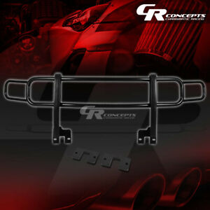 Oe Style Stainless Black Front Bumper Brush Guard Frame For 06 10 Hummer H3 h3t