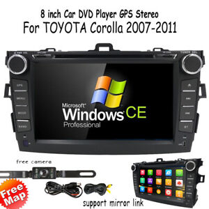 For Toyota Corolla 2007 2008 2009 2010 2011 8 Car Dvd Radio Gps Stereo cam map