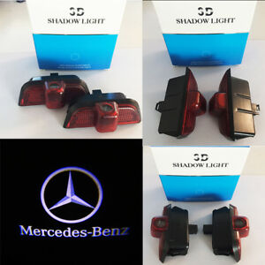 2x Ghost Car Door Led Logo Welcome Light Laser Shadow For Benz C200 C300