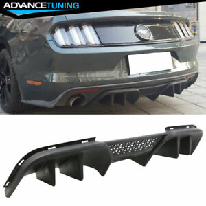 Fits 15 17 Ford Mustang R spec V2 Lower Rear Diffuser For Premium Rear Bumper Pp