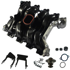 New Intake Manifold With Gasket Thermostat O rings For Ford Lincoln Mercury 4 6l