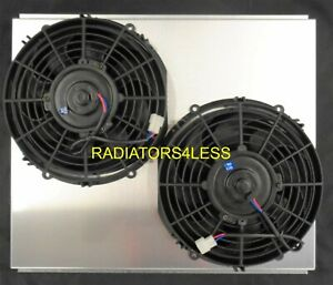 New Aluminum Radiator Fan Shroud W 10 Fans 1968 1974 Chevy Nova 21 Core